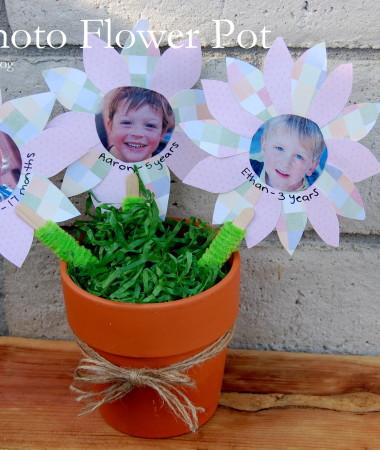 Photo Flower Pot Craft for Kids