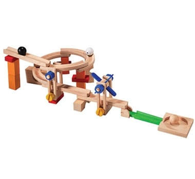 Plan Toys Build N' Roll Organic Wooden Ball Track Set