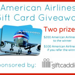 American Airlines Gift Card Giveaway Sponsored by Gift Caddie – US