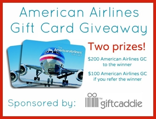 American Airlines Gift Card Giveaway Sponsored by Gift Caddie