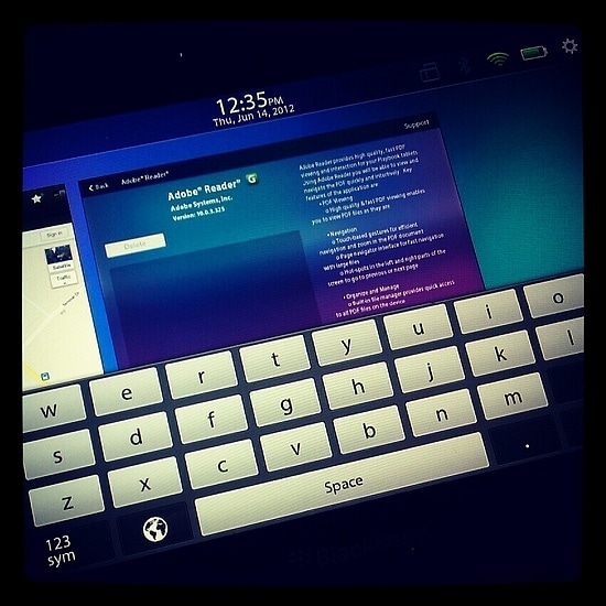 BlackBerry Playbook has an easy to use keyboard