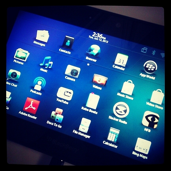 The BlackBerry Playbook tablet has amazing screen resolution!