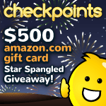 CheckPoints Star Spangled $500 Amazon Gift Card Giveaway
