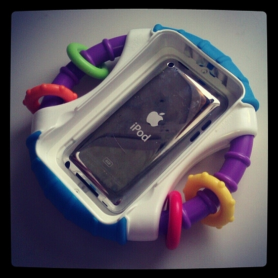 Fisher-Prive Apptivity case protects your iPod
