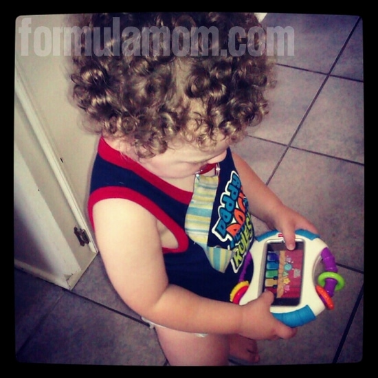 Fisher-Price Laugh & Learn Apptivity case is great for toddlers!