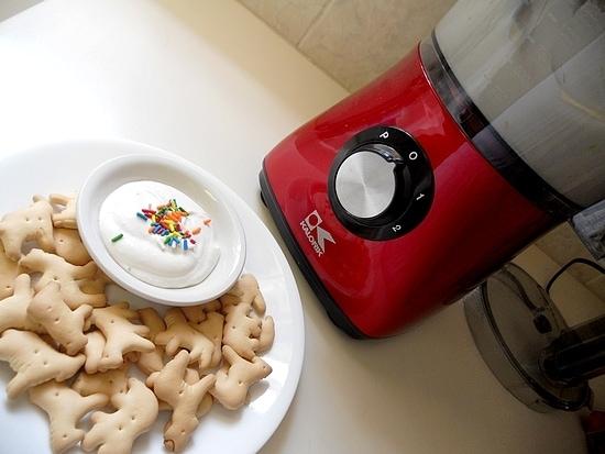 Funfetti Dip made using the Kalorik Food Processor