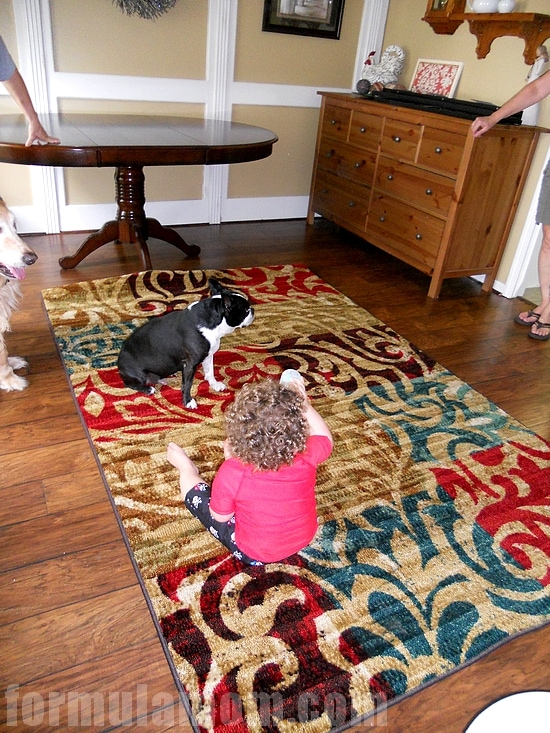 Mohawk Rugs put the finishing touches on the room!