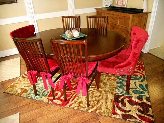 Mohawk Rug gives the dining room WOW factor!