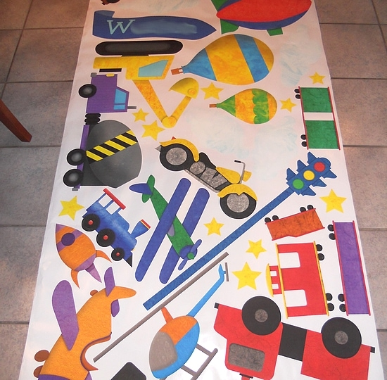 My Wonderful Walls Transportation Wall Sticker Kit