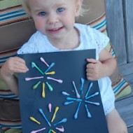 Q-Tip Fireworks Craft for the 4th of July! #4thofJuly