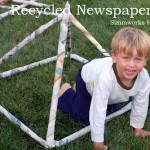 Recycled Newspaper Hut DIY Craft