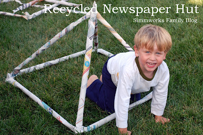 Recycled Newspaper Hut Craft