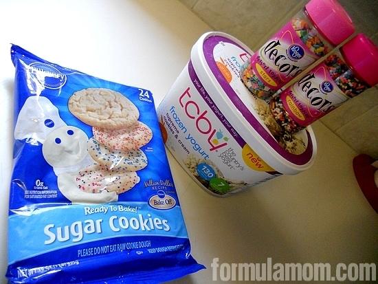 Ready to make TCBY homemade frozen yogurt sandwiches!