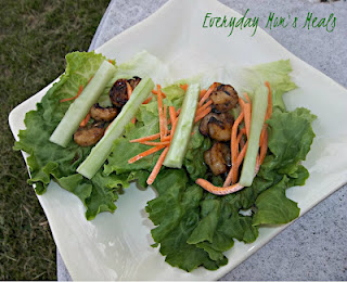 Teriyaki Shrimp Lettuce Cups Recipe