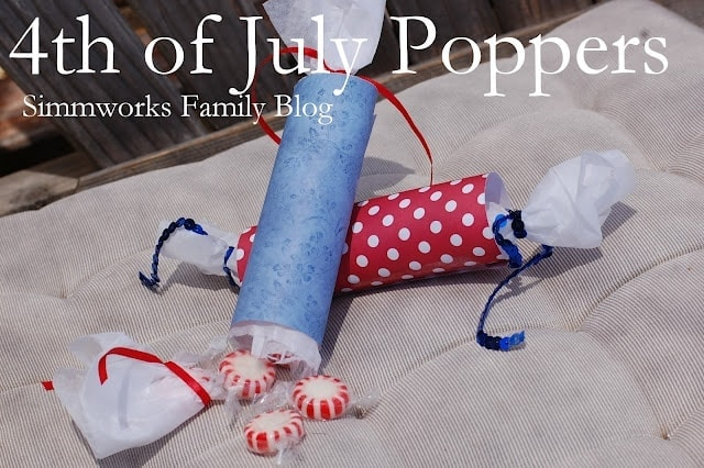 4th of July Craft Poppers