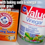 Cleaning with Baking Soda & Vinegar: Grout Saver