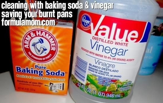 Cleaning with Baking Soda & Vinegar: Pan Saver