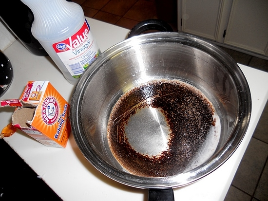 Cleaning with Baking Soda Saved My Burnt Pot!