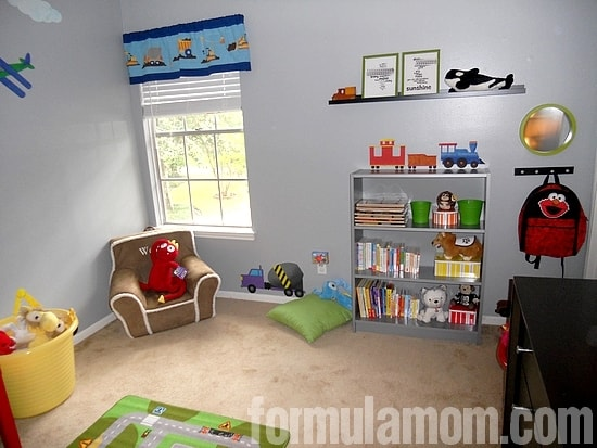 Boy Bedroom Makeover Transportation Theme