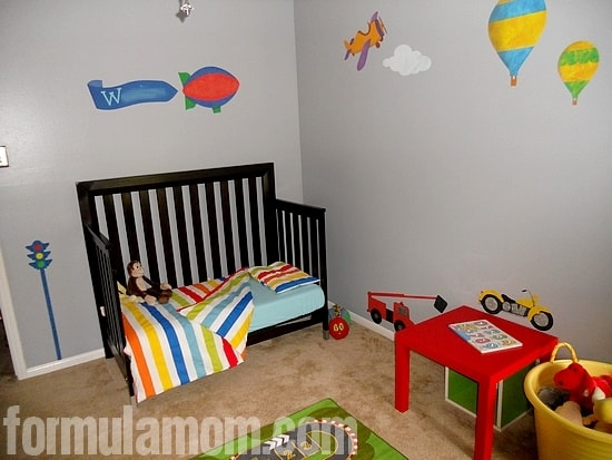 Boy Bedroom Makeover Primary Colors
