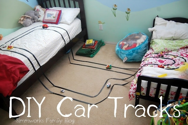 DIY Race Car Tracks Craft