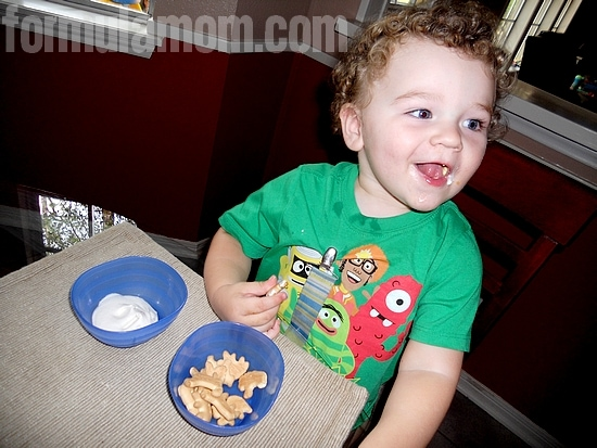 Funfetti Cake Dip Gets Toddler Approval