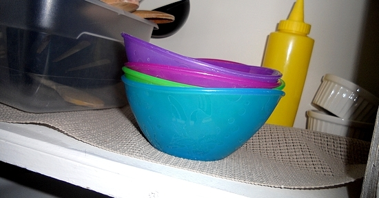 Munchkin Bowls in the Cabinet