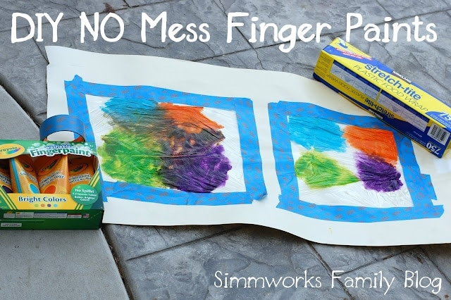 No Mess Finger Paints
