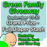 For Bloggers: Green Family Giveaway Event with Glow Bug Cloth Diapers