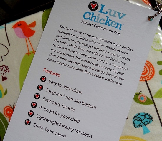 Luv Chicken Booster Cushion for Toddlers