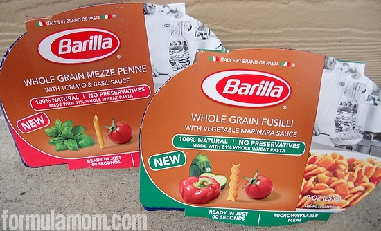 Whole Grain Barilla Microwaveable Meals