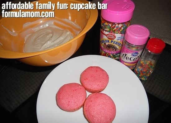 Affordable Family Fun: Cupcake Bar