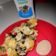 Taco Ranch Dip Makes Easy Nachos Zesty #anythingdressing #Cbias