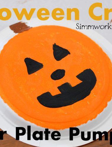 Paper Plate Pumpkin Craft