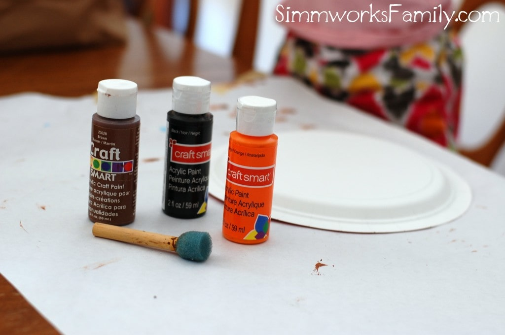 Paper Plate Pumpkin Craft Materials
