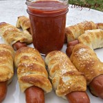 Pretzel Dogs Recipe with Spicy Ketchup