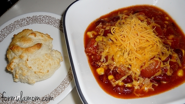 Turkey Chili and Biscuits