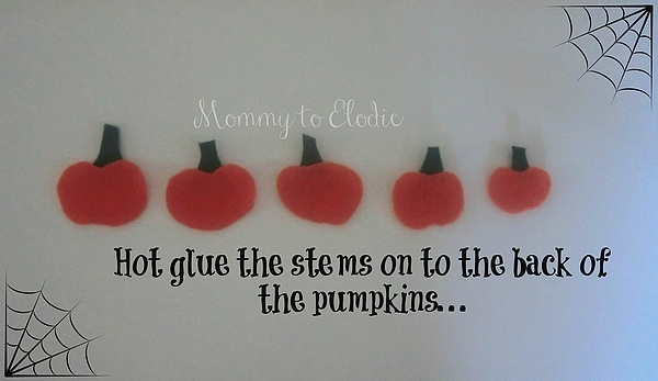 Five Little Pumpkins Fingerplay Craft