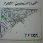 Glitter Spiderweb Halloween Craft