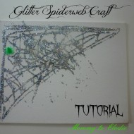 Glitter Spiderweb Halloween Craft