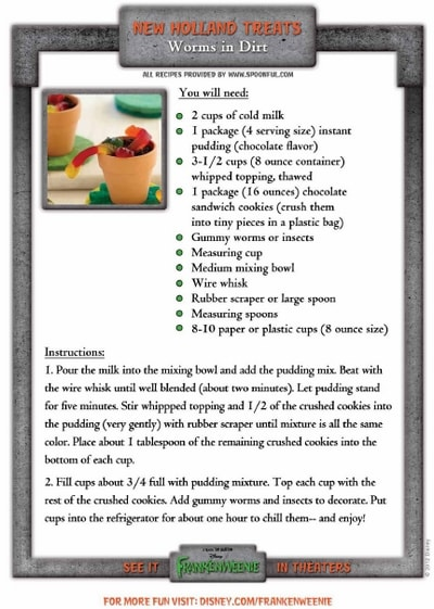 Halloween Worms In Dirt Recipe #DisneyMoviesEvent
