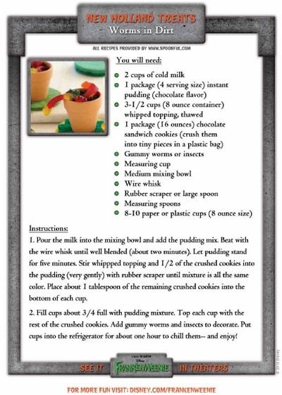 Halloween Worms In Dirt Recipe #DisneyMoviesEvent