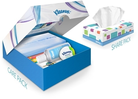 Kleenex Cares about Sharing #KleenexCares