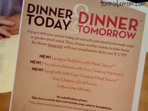 Olive Garden Dinner Today & Dinner Tomorrow (Review)