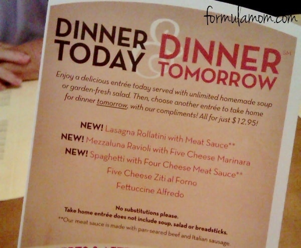 Olive Garden Dinner Today Dinner Tomorrow Review