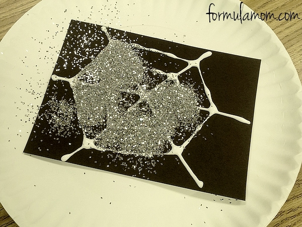 Glitter Spider Web Craft