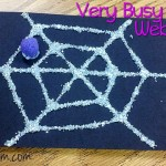 Very Busy Spider Web Craft #Halloween