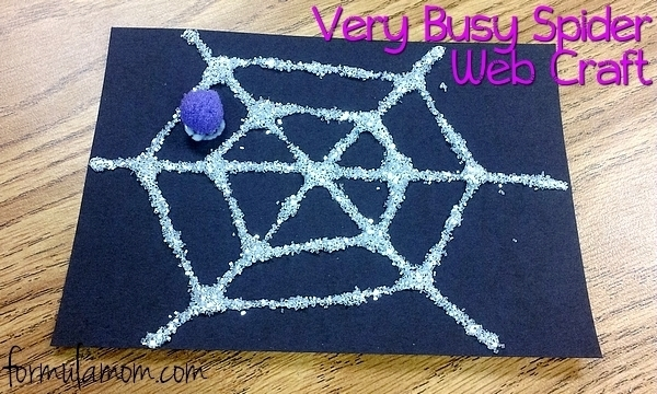 Very Busy Spider Web Craft