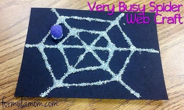 Very Busy Spider Web Craft #Halloween