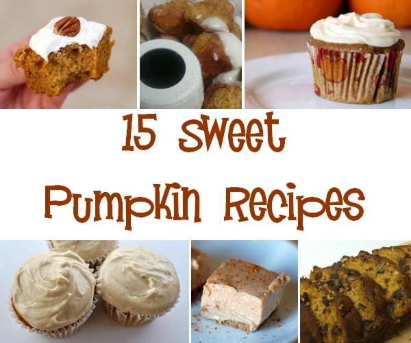 15 Sweet Pumpkin Recipes